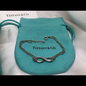 "Tiffany Infinity 6"" Double Chain Bracelet 925"